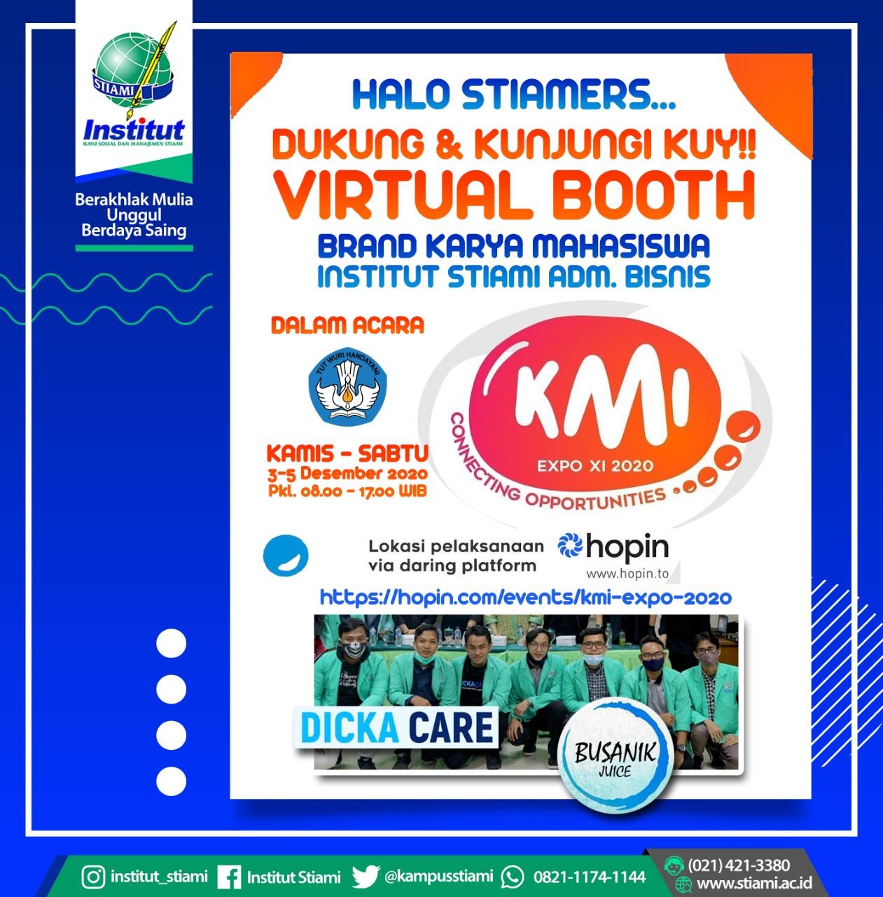Usaha Mahasiswa Institut menjadi Pemenang dalam  KMI Expo XI 2020