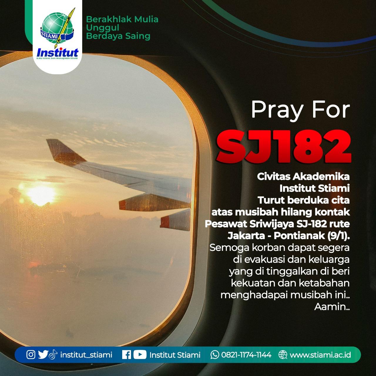 Turut Berduka Cita atas Jatuhnya Pesawat Sriwijaya Air
