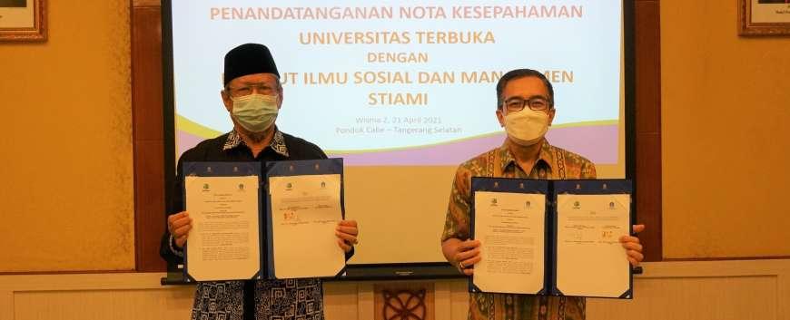 Institut STIAMI menandatangani MoU dengan Universitas Terbuka dalam rangka Tri Dharma Pendidikan