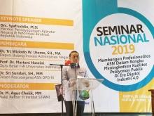 Menpan Rb Syafruddin Hadiri Seminar Nasional 2019 Program Pascasarjana Institut Stiami