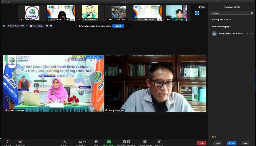 Seminar Nasional Online Institut Stiami dengan tema
